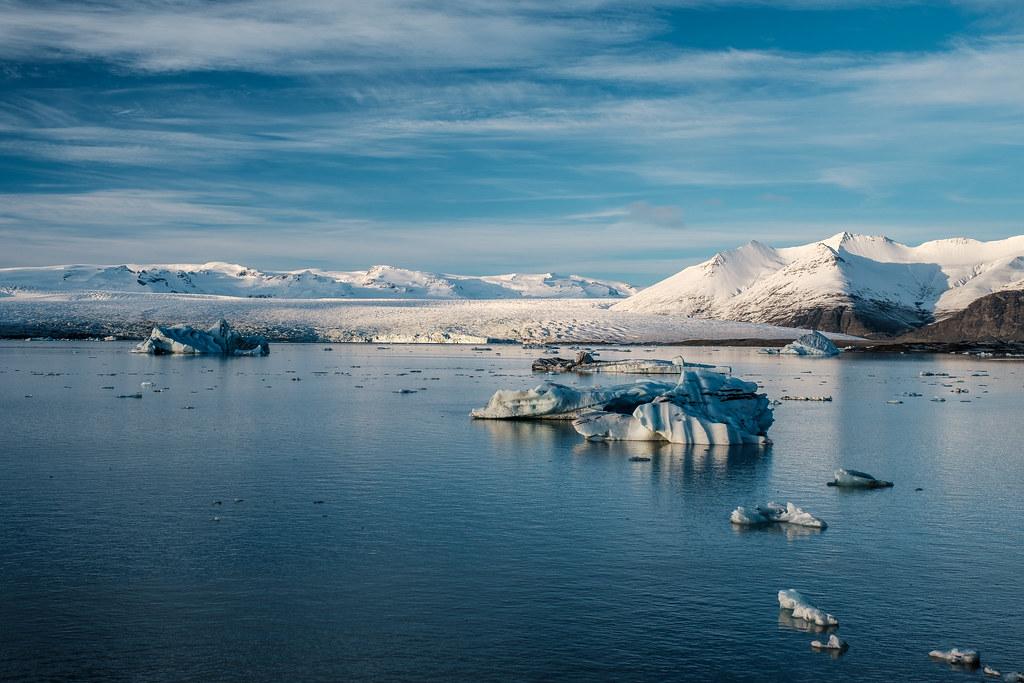 gleccser, jég