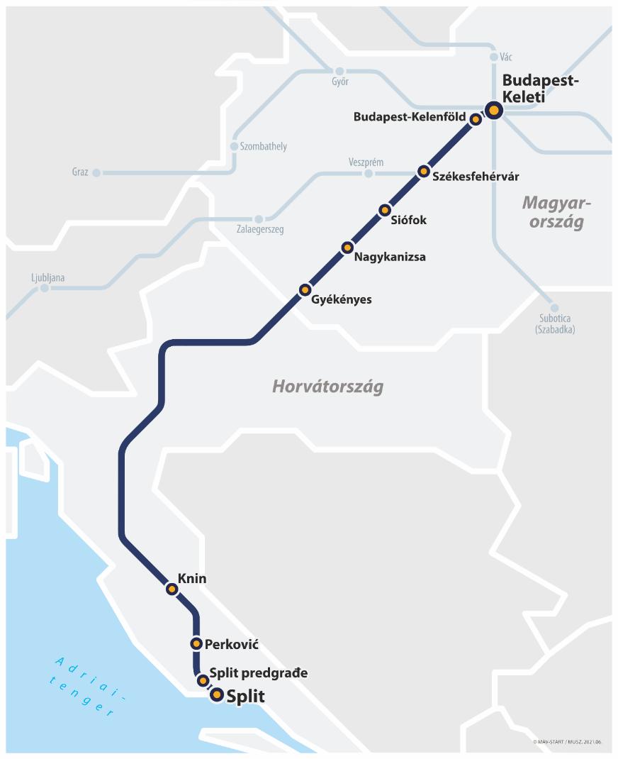 vonat máv adria térkép