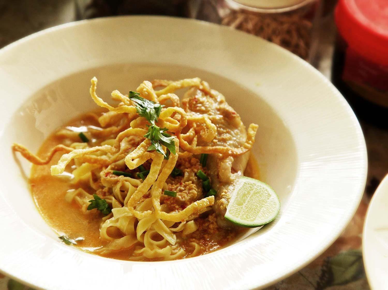 Khao Soi leves thaiföld ázsia ázsiai étel