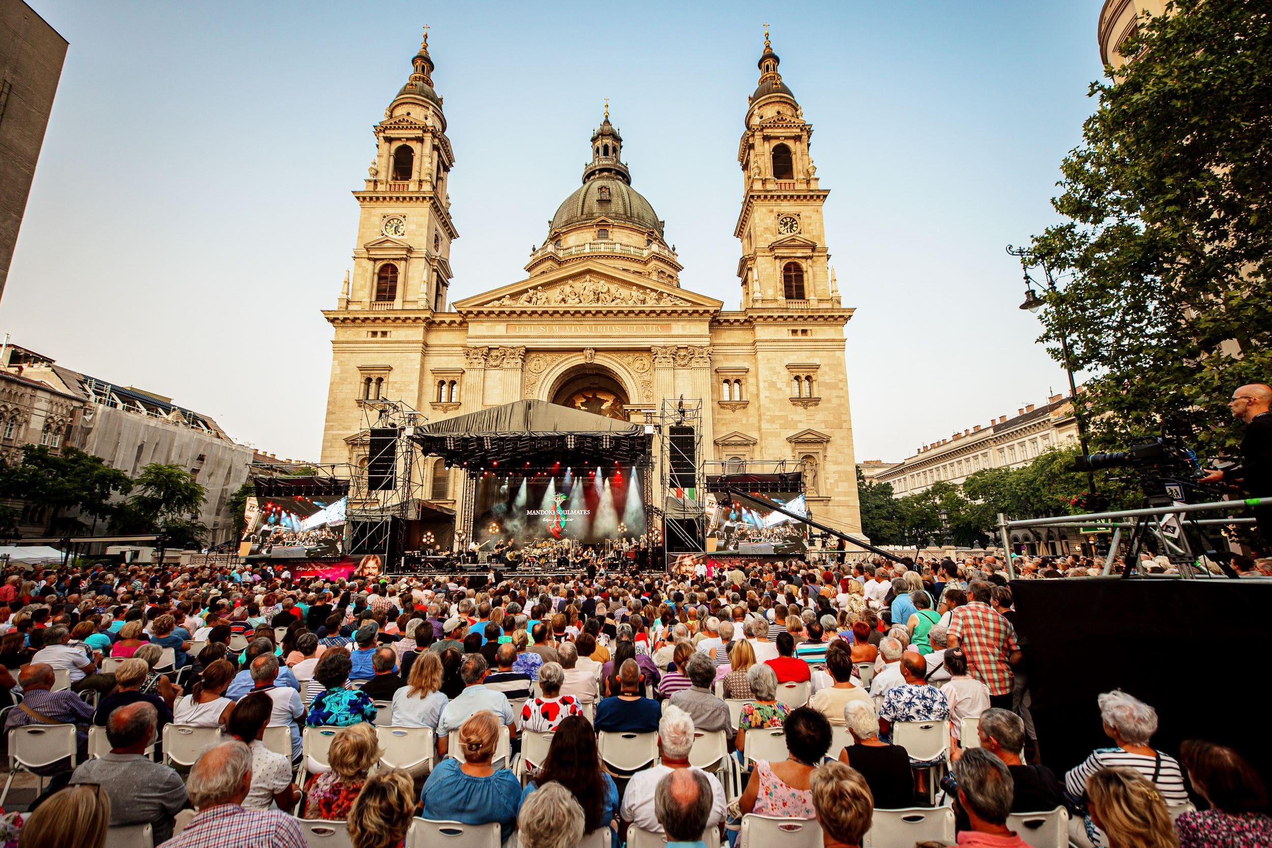 Ingyenes koncert, BAzilika, Budapest, Leslie Mandoki 2021