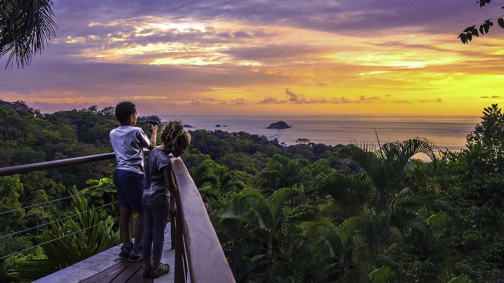 Costa Rica, nyaralás, naplemente