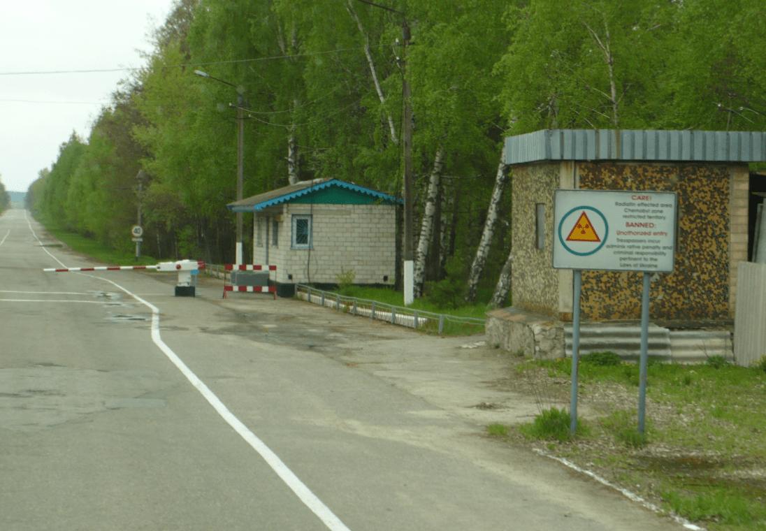 Csernobil zónahatár