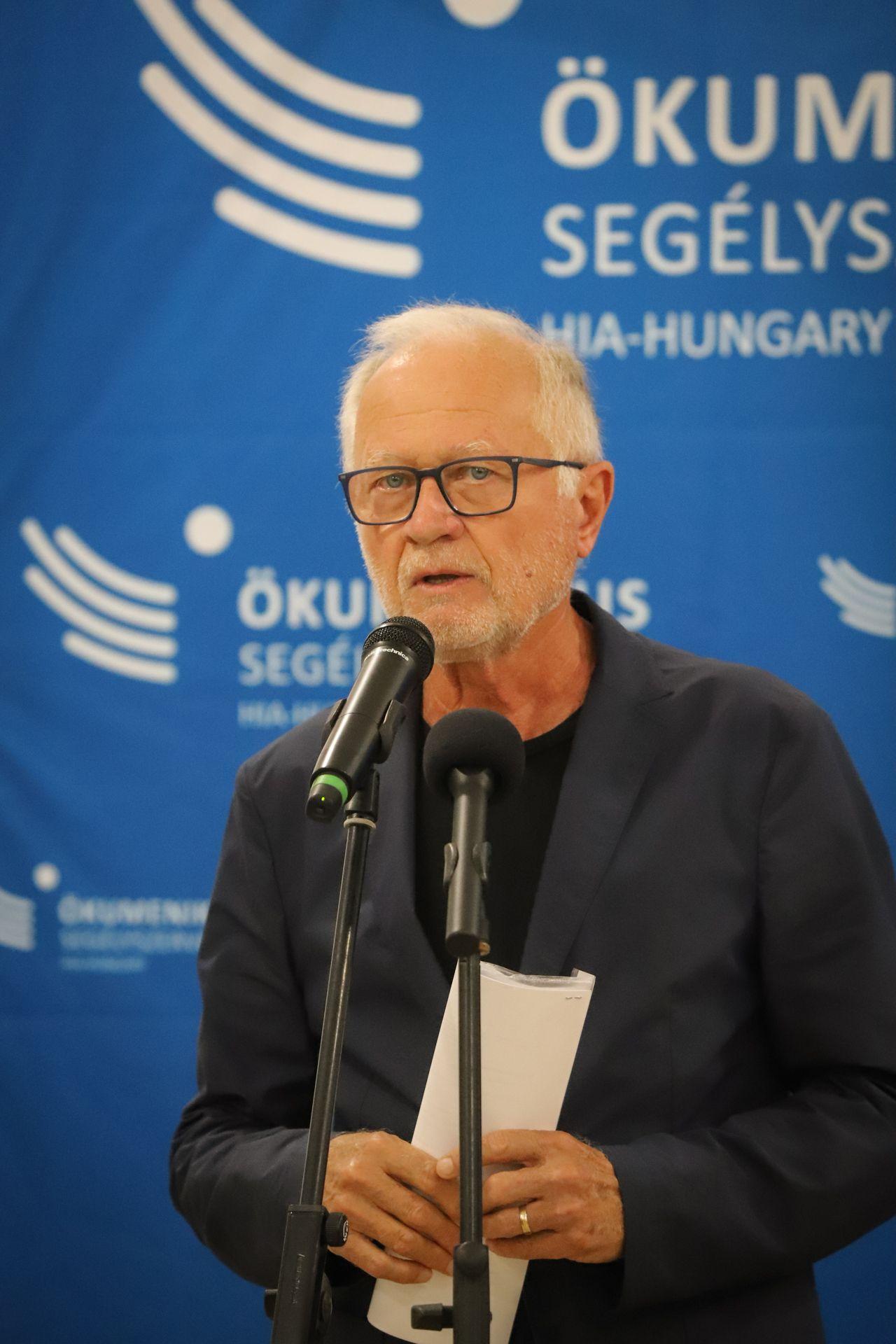 Lehel László, az Ökumenikus Segélyszervezet elnök-igazgatója