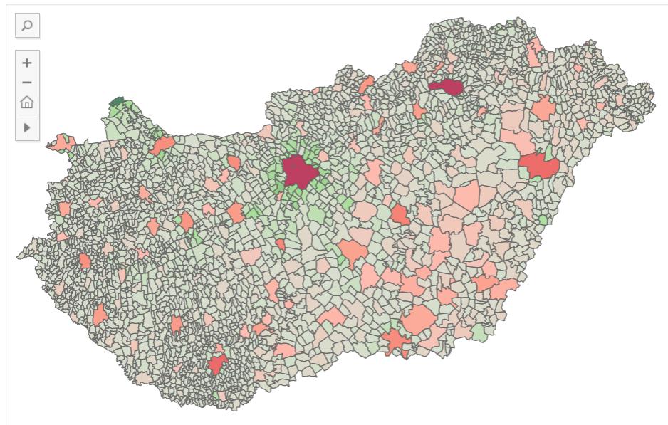 lakosságszám változása