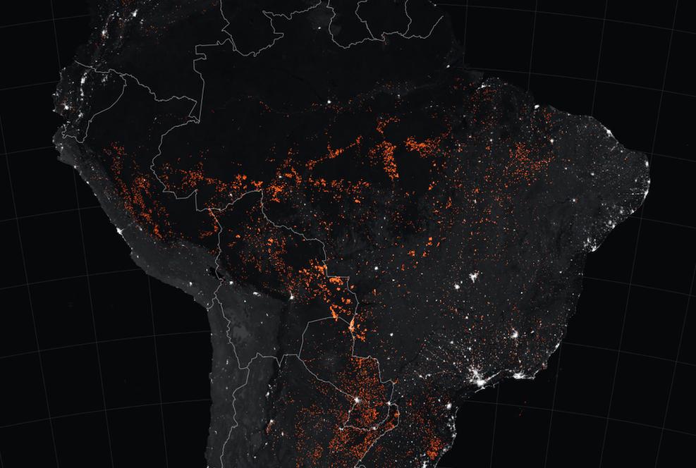 Brazíliai erdőtüzek