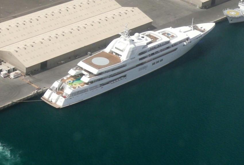 A maga 162 méteres hosszával a világon ez az ötödik legnagyobb jacht.