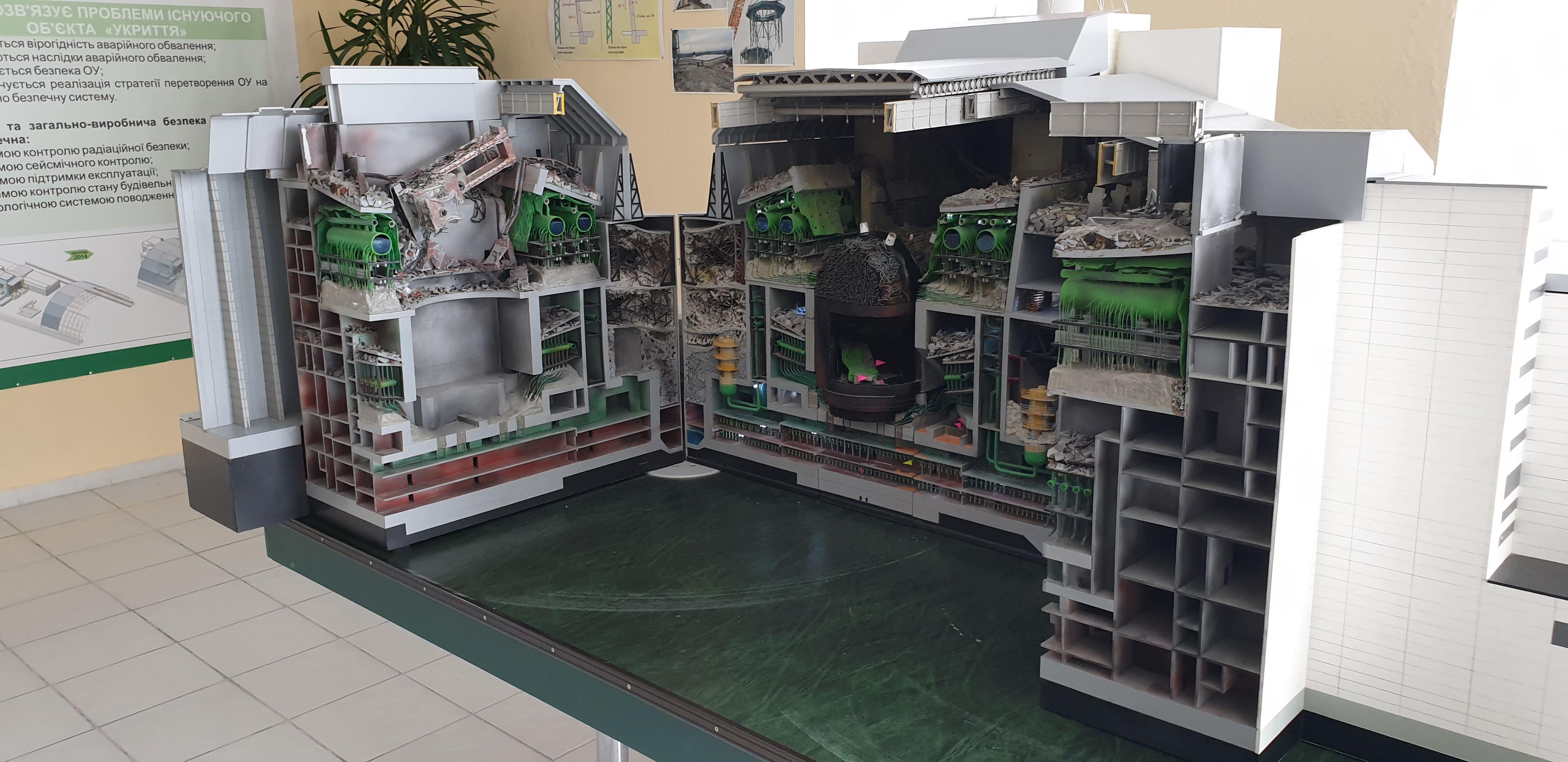 Csernobil erőmű, keresztmetszet