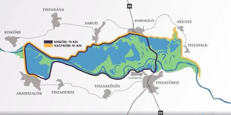 Tisza-tavi kerékpárút bicikli út