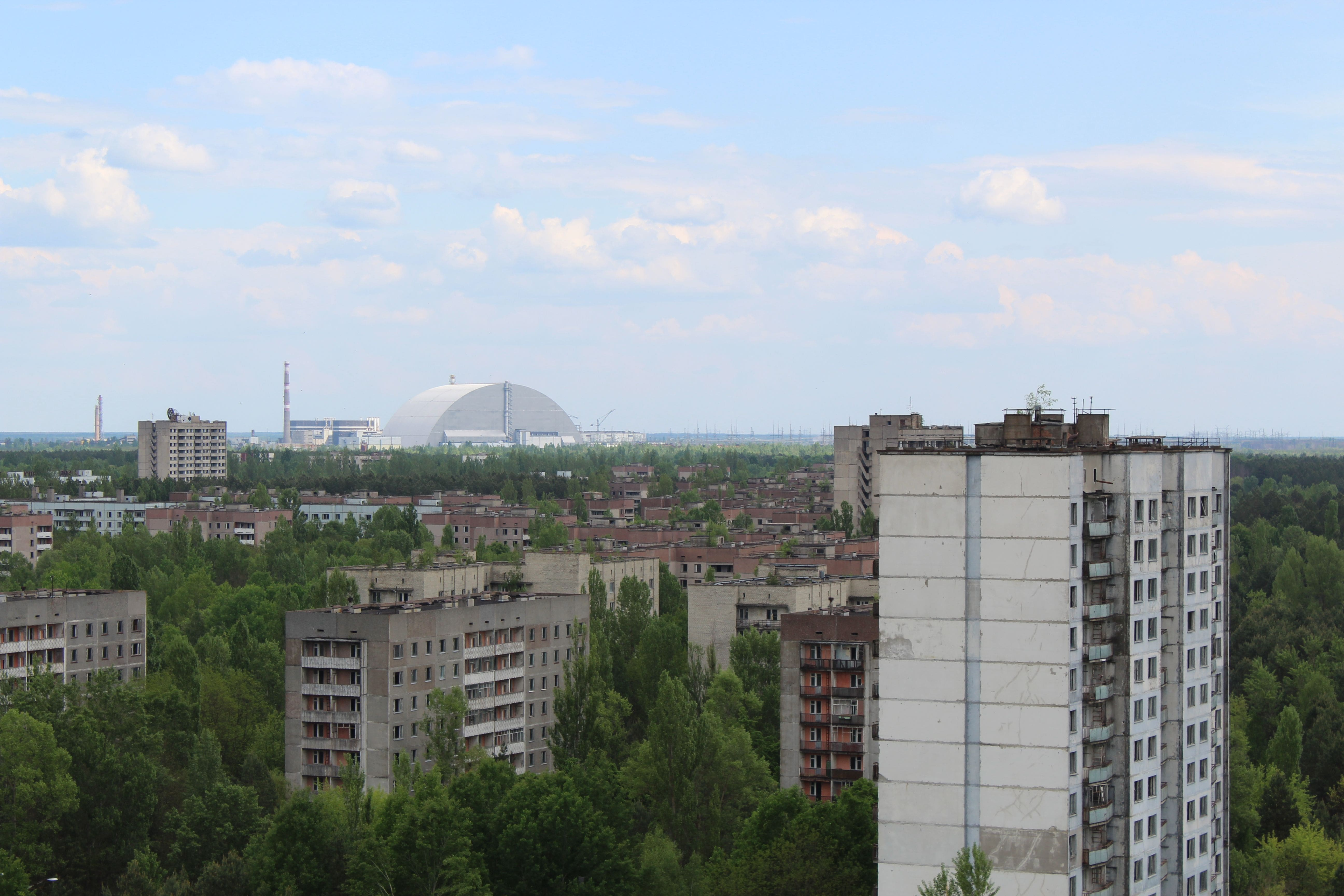 Csernobil látkép