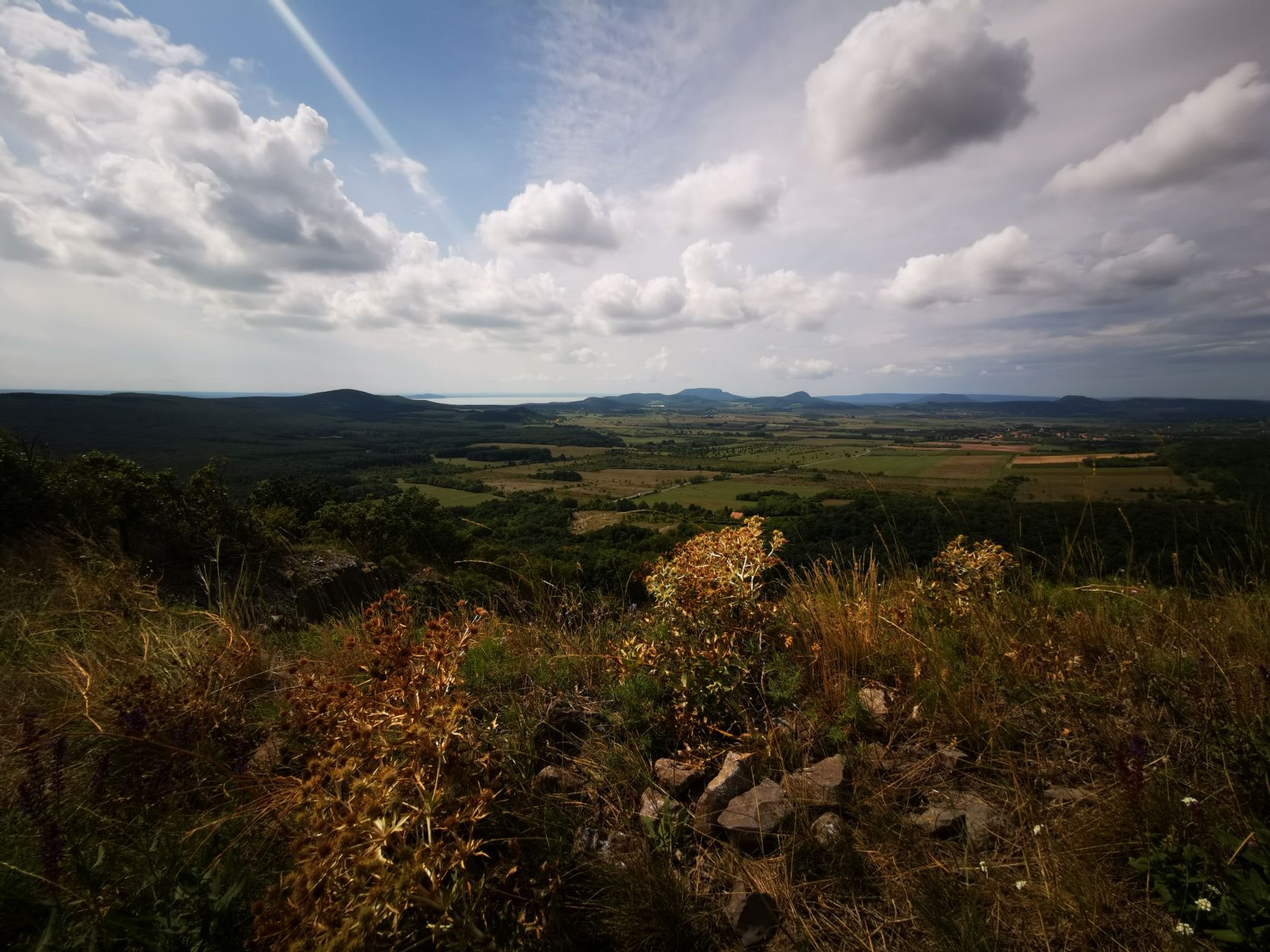 A gyönyörű balaton-felvidéki panoráma