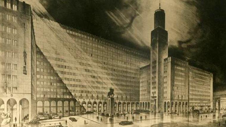 Az Új Városháza egyik látványterve