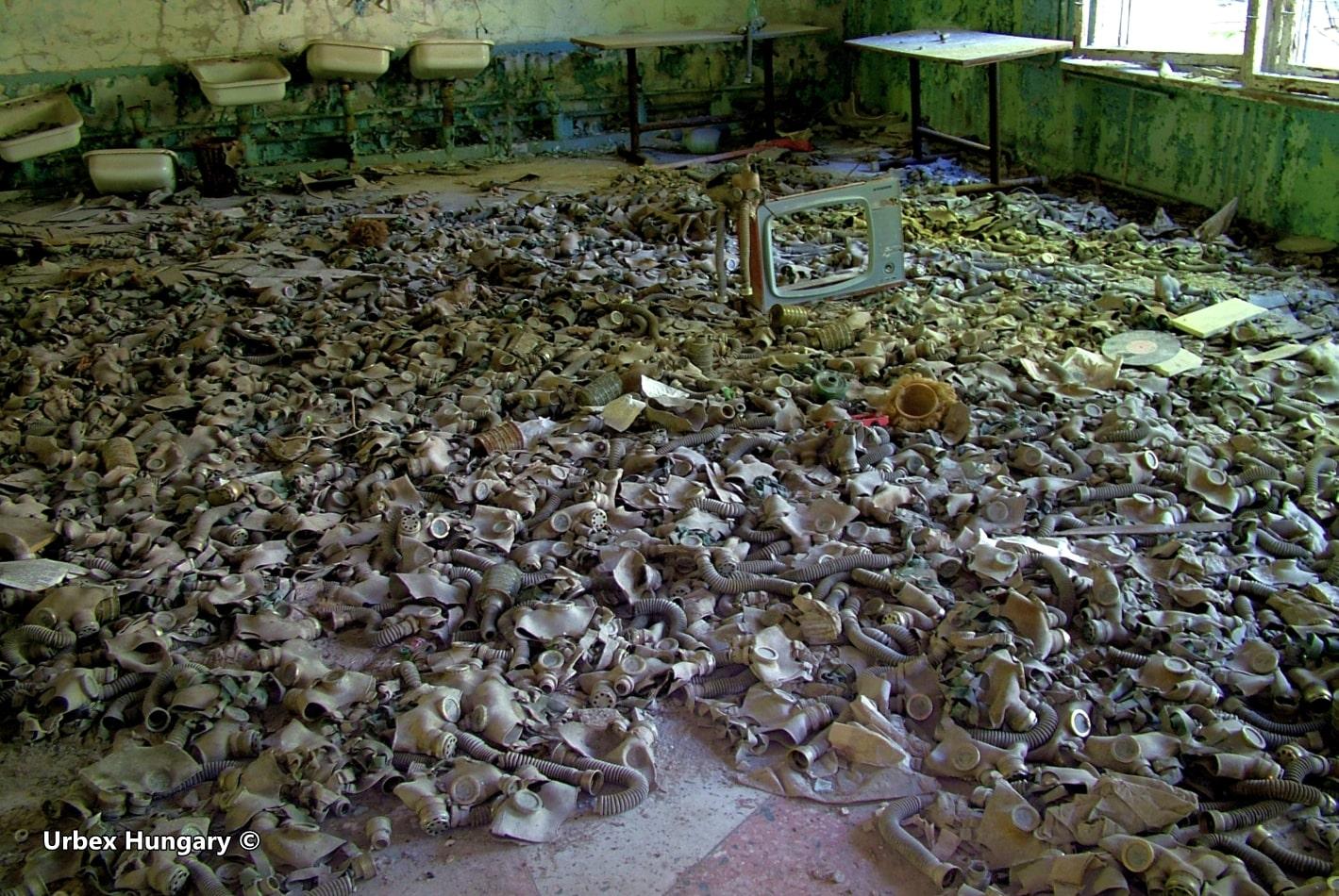 CSernobil, gázállarc