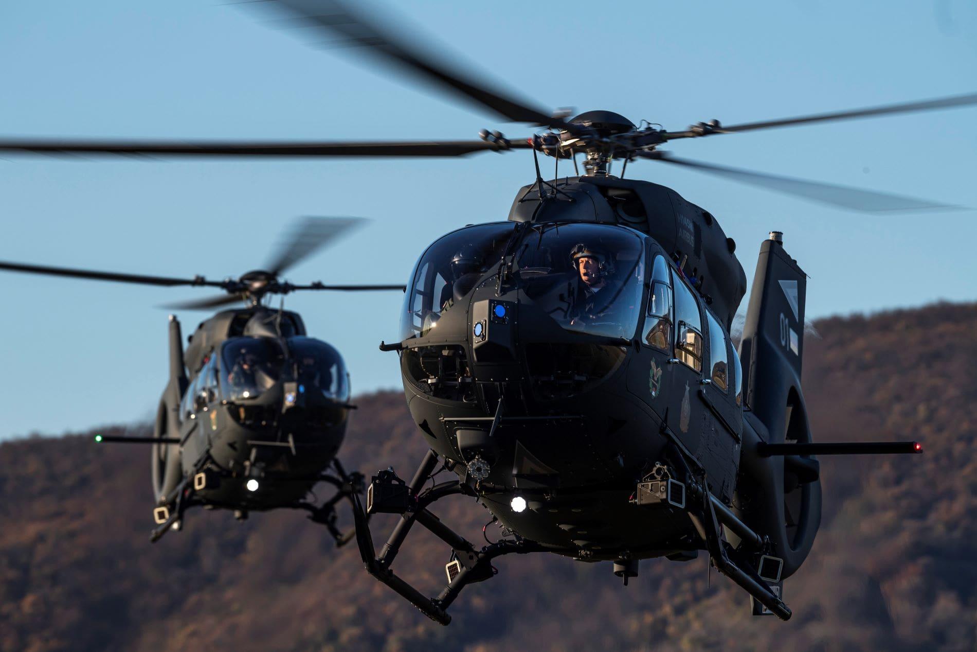 A MagyarHonvédség új beszerzésű Airbus H145M helikopterei