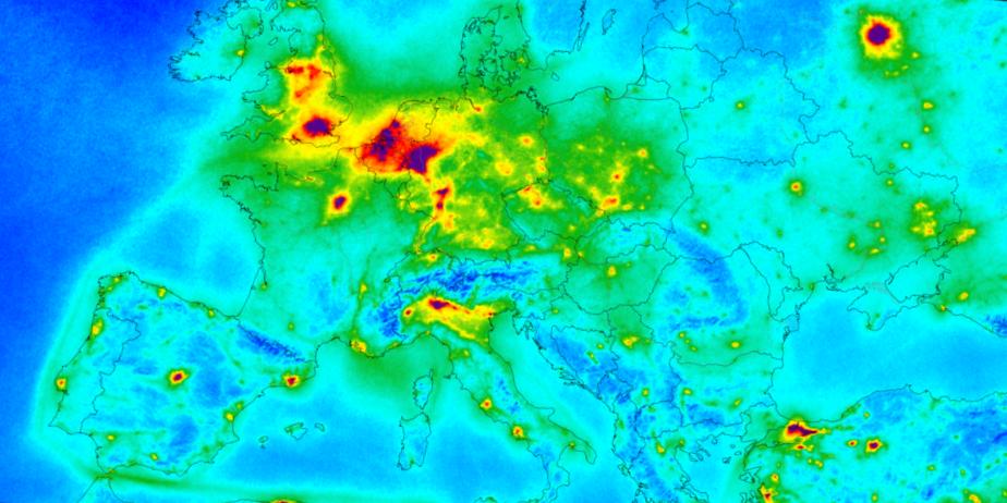 légszennyezettség Európában