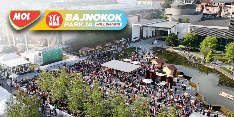 Szurkolói zóna a Millenáris Parkban