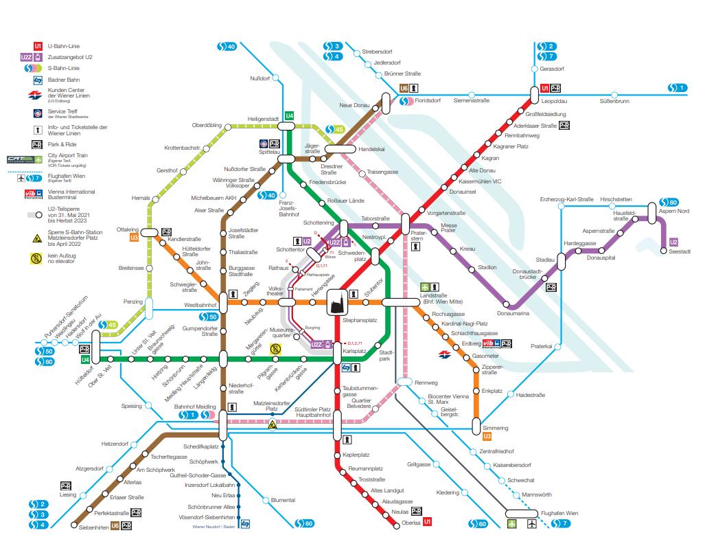 bécsi metró térkép