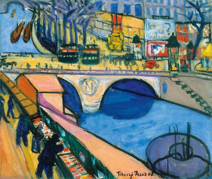 Tihanyi Lajos Pont Saint Michel (1908) - a modern festők sikeresek az aukciókon