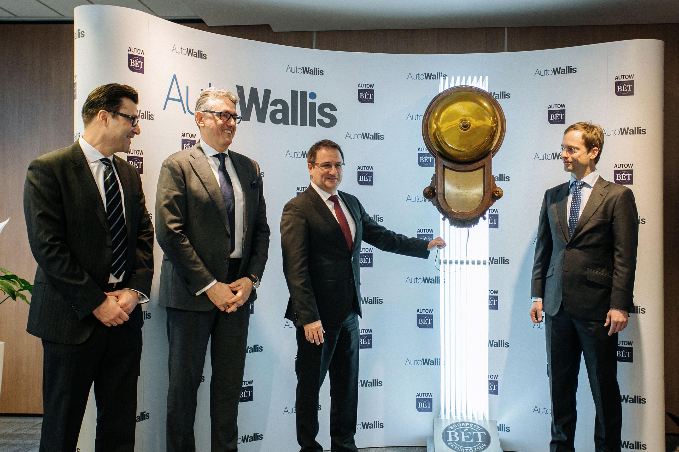 Az AutoWallis Nyrt. részvényeinek kereskedése ünnepélyes csengetéssel indult meg a Budapesti Értéktőzsdén